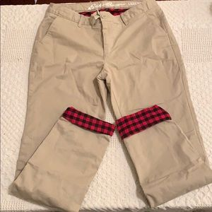 Eddie Bauer flannel lined pant
